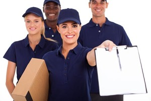 professional courier service staff